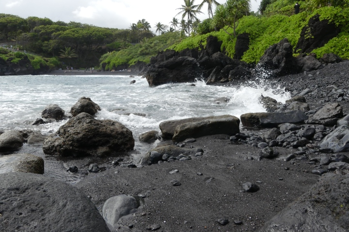 Black Sand Beach, Waianapanapa State Park, MauiHI