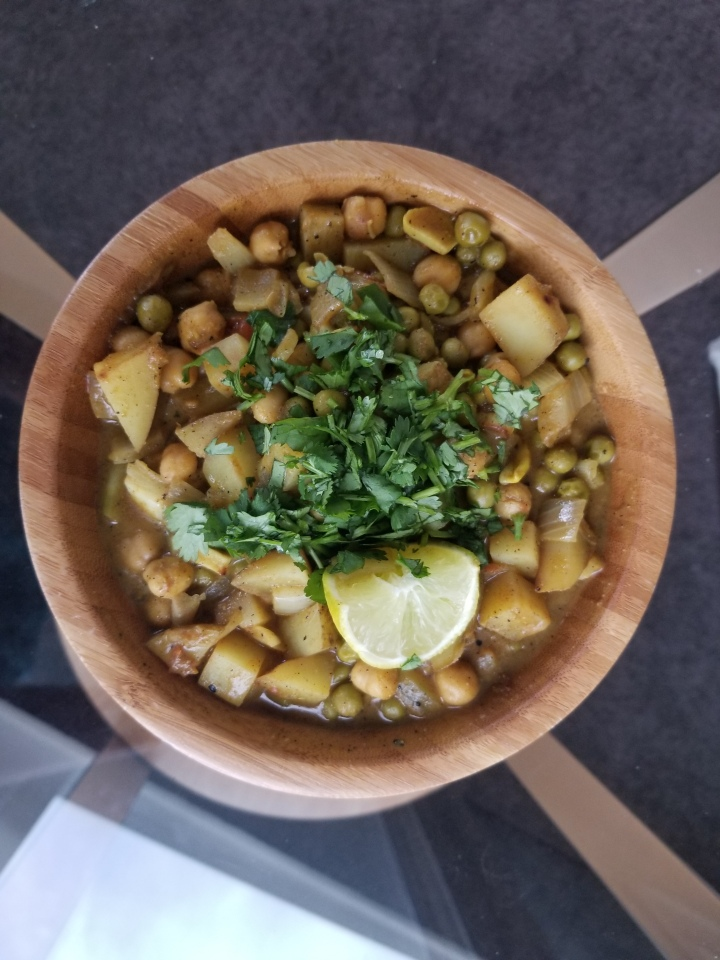 Coconut Curry Chickpeas and Potatoes
