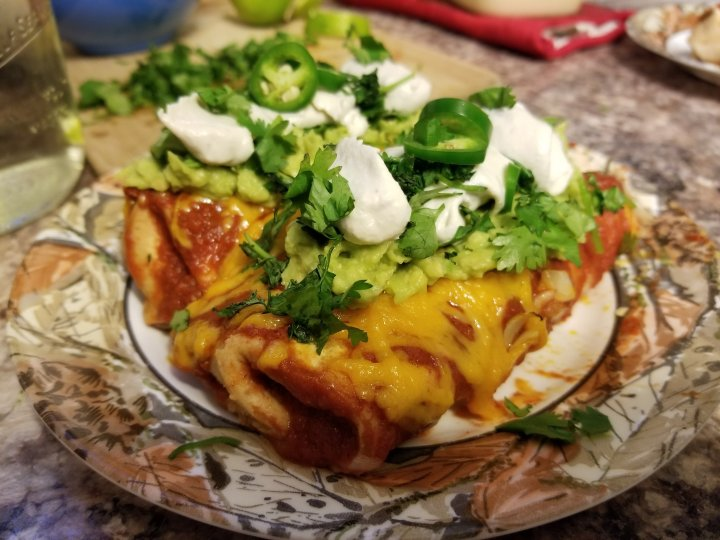 Baked Black Bean and Pinto Enchiladas